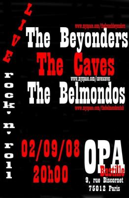 Concert, Paris, The Belmondos, The caves, The Beyonders, OPA