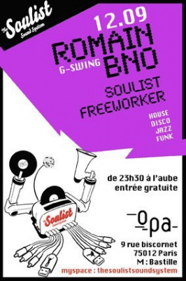 Soirée, Paris, Soulist Sound System, Romain BNO, OPA
