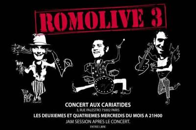 Concert, Paris, Romolive, Cariatides