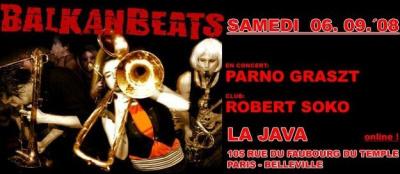 Soirée, Paris, Balkanbeats, Parno Graszt, Tagada, Soko, Java