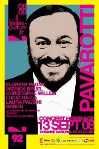 Concert, spectacle, Hommage, Luciano Pavarotti, Domaine de Saint Cloud.