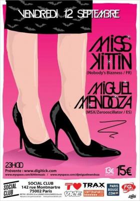 Soirée, Paris, Social Club, Miss Kittin, Miguel Mendoza