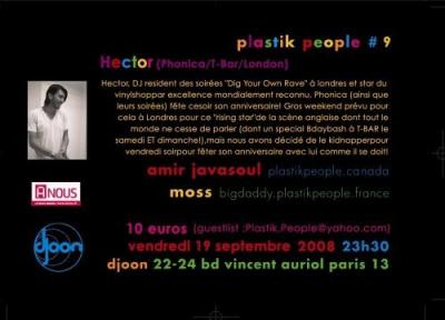 Soirée, Paris, Plastik People, Djoon, Hector