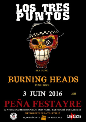 LOS TRES PUNTOS + BURNING HEADS
