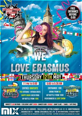International student party : We love Erasmus