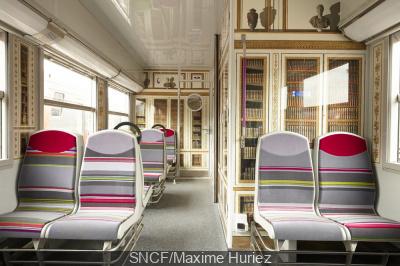 Cinq trains de la ligne C aux couleurs de Versailles dès le 25 mai 2016.