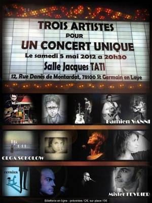 Concert Damien Vanni - Olga Sokolow - Mister Février