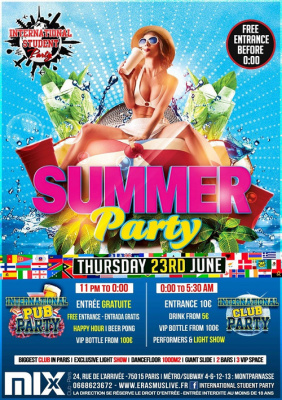 INTERNATIONAL STUDENT PARTY : Summer Party