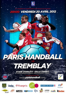 PARIS HANDBALL - TREMBLAY 21ème journée championnat de France LFH