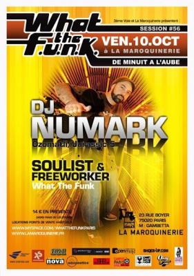 Soirée, Paris, Clubbing What the funk, Maroquinerie, Jurassic 5, Numark, Soulist, Freeworker
