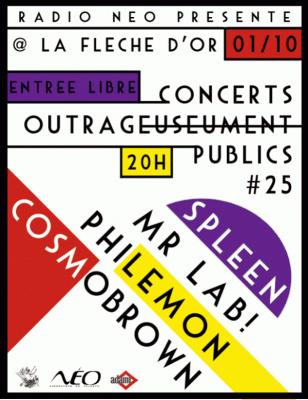 Concerts, Paris, Cosmobrown, Mr Lab, Philemon, Spleen