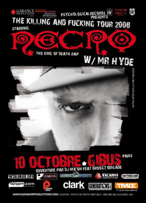 Concert, Paris, Necro, Mr Hyde, Gibus.