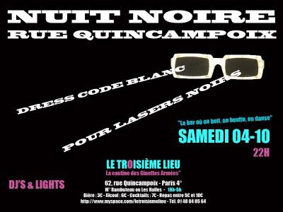 Soirée, Paris, Nuit Blanche, Nuit Noire, Rue Quincampoix, Troisième Lieu, Cantine des Ginettes armées