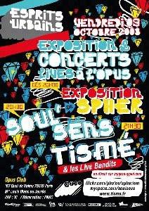 Concerts, Paris, Tismé, Spher, Esprits Urbains, Canal Opus