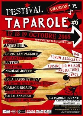 Concerts, Festival, Paris, Taparole, Parole Errante