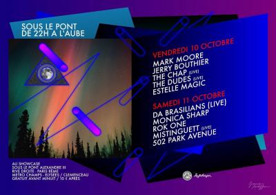 Soirée, Paris, Sous le Pont, Pont Alexandre 3, Showcase