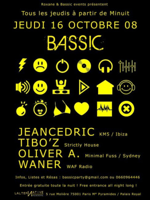 Soirée, Clubbing, Paris, Bassic, Lalternative, Tibo'z, Jeancedric