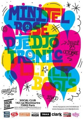 Soirée, Paris, Clubbing, Electronik, Social Club, Minitel Rose, Djedjotronic, Little Boots