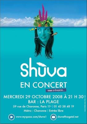 Concert, Paris, Shùva, Café de la Plage