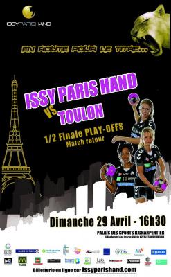 ISSY PARIS HAND vs TOULON St-CYR Demi-finale retour championnat de France de Handball Féminin
