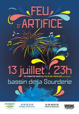Feu d'artifice du 14 juillet 2016 à Montigny-le-Bretonneux