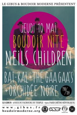 Neils Children(Uk)Baï-Kal(Fr)The Gaa Gaa's(Uk)Orchidée Noire(Fr)