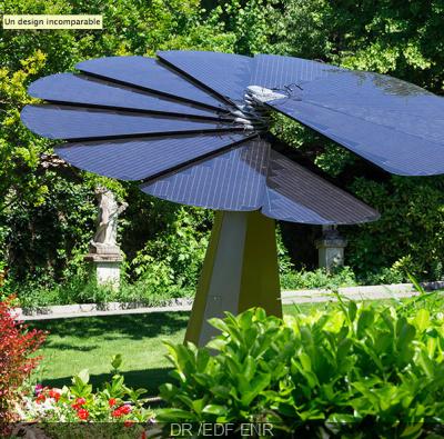 La Smartflower d'EDF s'expose au Jardin des Plantes