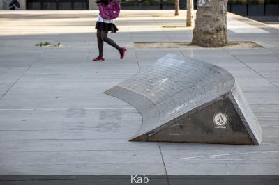 Des rampes de skate Place de la République