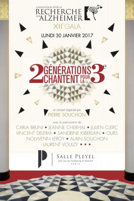 Gala 2017 de l'Association pour la Recherche sur Alzheimer à la salle Pleyel