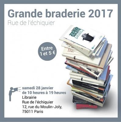 Les éditions Rue de l'échiquier organisent une braderie dans ses locaux parisiens