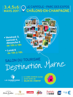 tourisme le salon destination marne 2017 de retour en mars ch lons en champagne. Black Bedroom Furniture Sets. Home Design Ideas