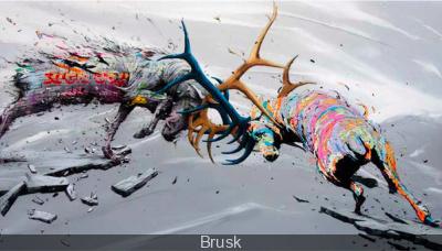 Le street artiste Brusk s'expose à Paris