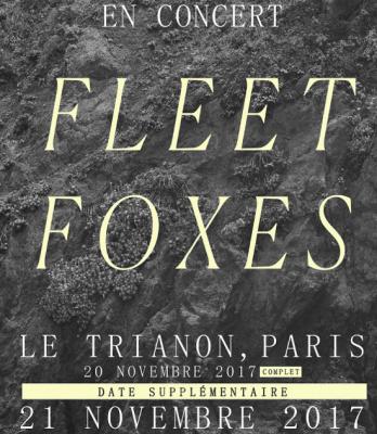 Fleet Foxes en concert au Trianon de Paris les 20 et 21 novembre 2017