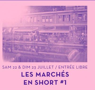 Marché en short au Point éphémère
