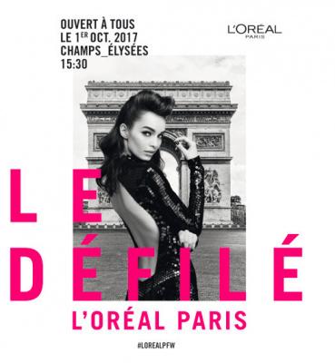Fashion Week : L'Oréal défile sur les Champs-Elysées