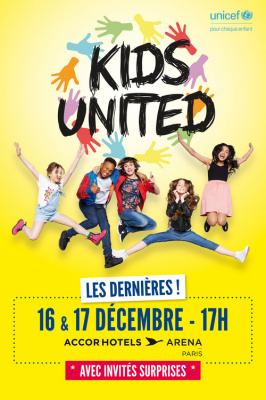 Kids United en concert à l'AccorHotels Arena à Paris en décembre 2017