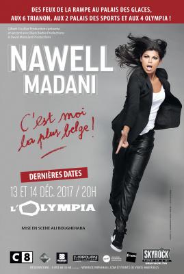 """Nawell Madani : """"""""C'est moi la plus belge"""" à l'Olympia en décembre 2017"""