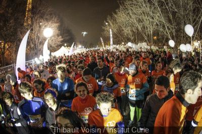La Course des Lumières 2017, une course contre le cancer à Paris