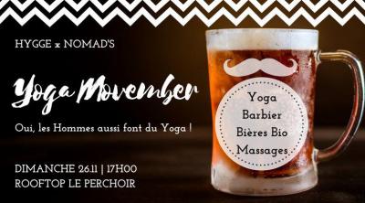 Yoga Movember au Perchoir