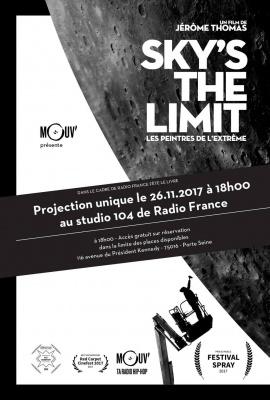 Projection du docu de street-art Sky's the limit à la Maison de la Radio