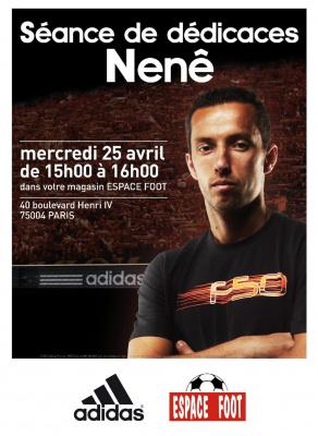 Séance de dédicaces avec Nenê, meilleur buteur cette saison au PSG !
