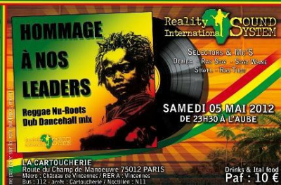 Soirée reggae sound system REALITY INTERNATIONAL