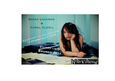 Jazz Bunch Sarah Lancman & Carel Cleril