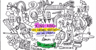 Kino Kino vous invite à venir colorier les murs des Grands Voisins