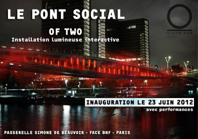 """Le Pont Social"": Installation lumineuse interactive"