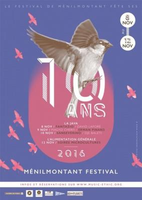 FESTIVAL DE MENILMONTANT : MAGYD CHERFI (LECTURE CITOYENNE) + ERWAN PINARD