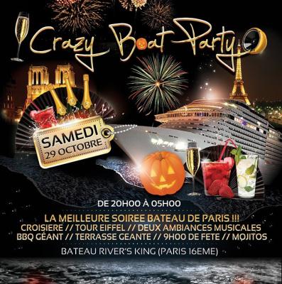 CRAZY BOAT PARTY spéciale HALLOWEEN (Croisiere, Tour Eiffel)
