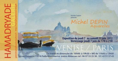 Michel DEPIN aquarelles PARIS/VENISE