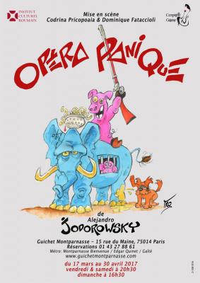 Opéra panique de Jodorowsky au Guichet Montparnasse