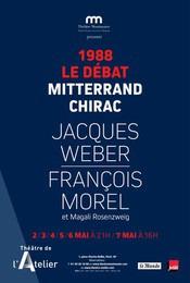 1988 Le débat, Mitterrand - Chirac au Théâtre de l'Atelier